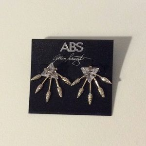 ABS CRYSTALS REVERTED GOLD EARRINGS